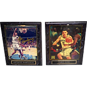 Two Framed Autographed Photo Plaques of Penny Hardaway and Jason Kidd