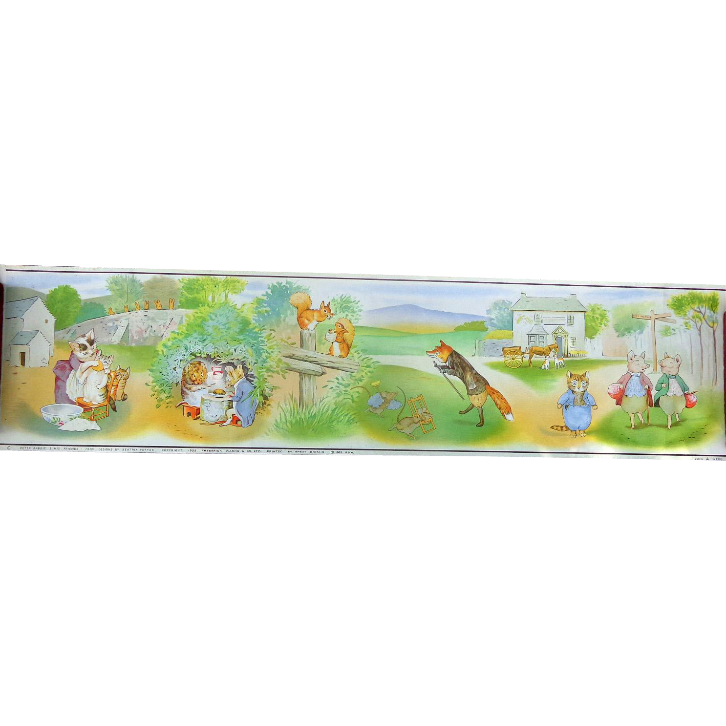 Beatrix Potter 1952 Original LARGE Posters...The Perfect Nursery Addition