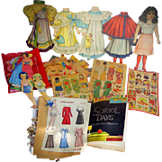 HUGE World War 1 Period Paper Doll Collection with Mechanicals