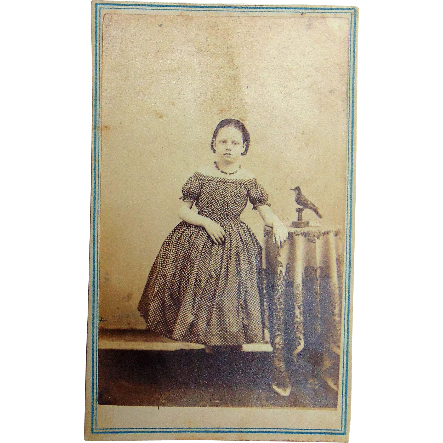 The Civil  War Hunger Games CDV of Little Girl with Mocking Jay
