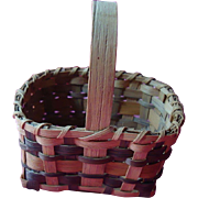 Agnes Welch Signed Cherokee Rivercane Basket