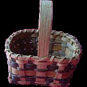 Agnes Welch Signed Cherokee Rivercane Basket