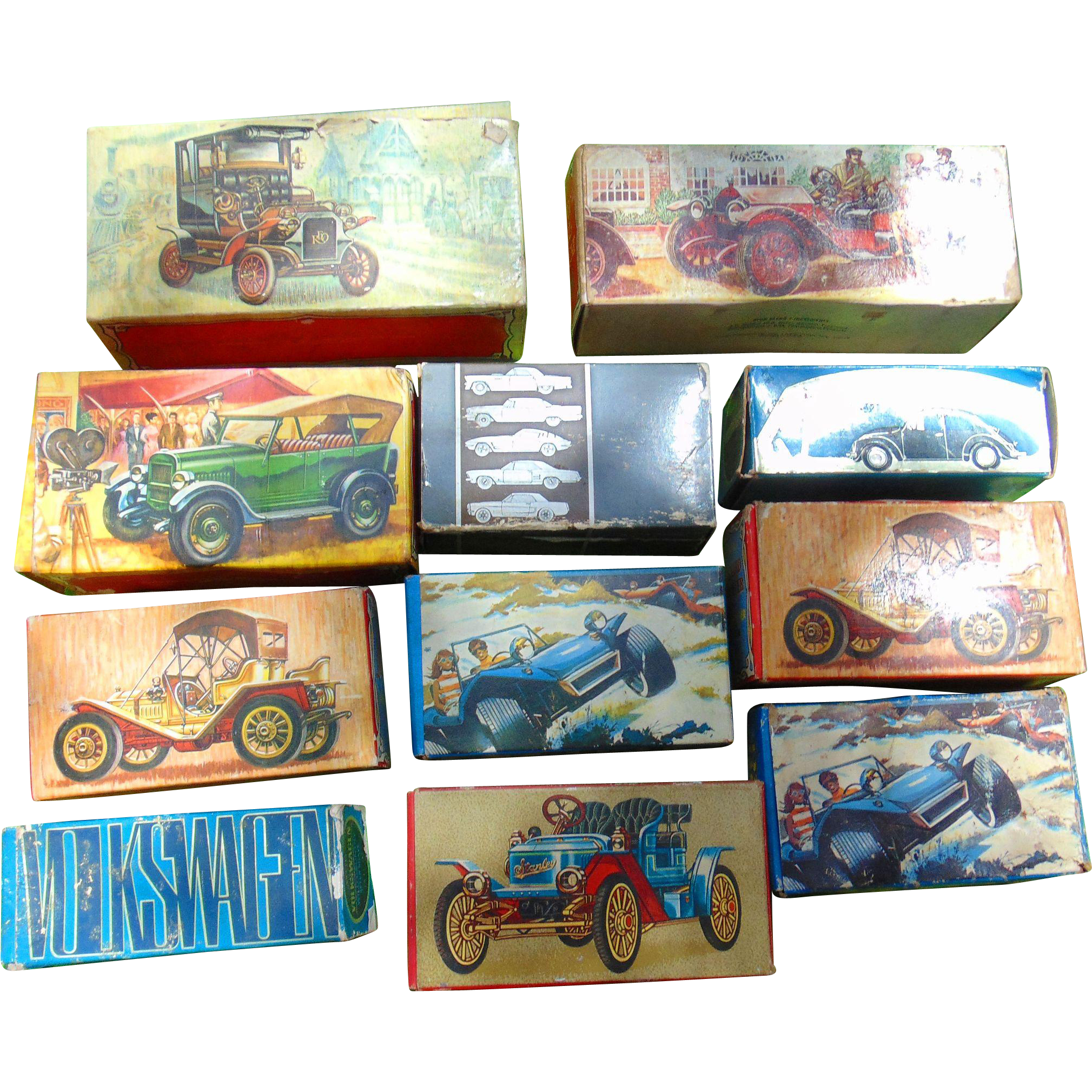 Collection of Avon Automobiles in Original Box (First Series)