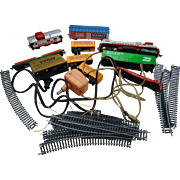 Vintage Train Set with Cars and Tracks