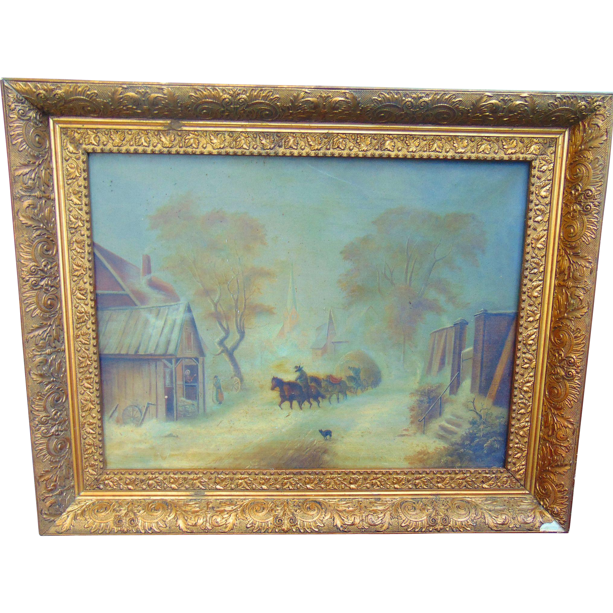 19th Century Oil Painting Sugar Hill,New Hampshire