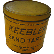 Early Keebler Sand Tarts Tin Container