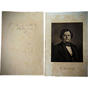 Autograph of Confederate General Benjamin J. Hill