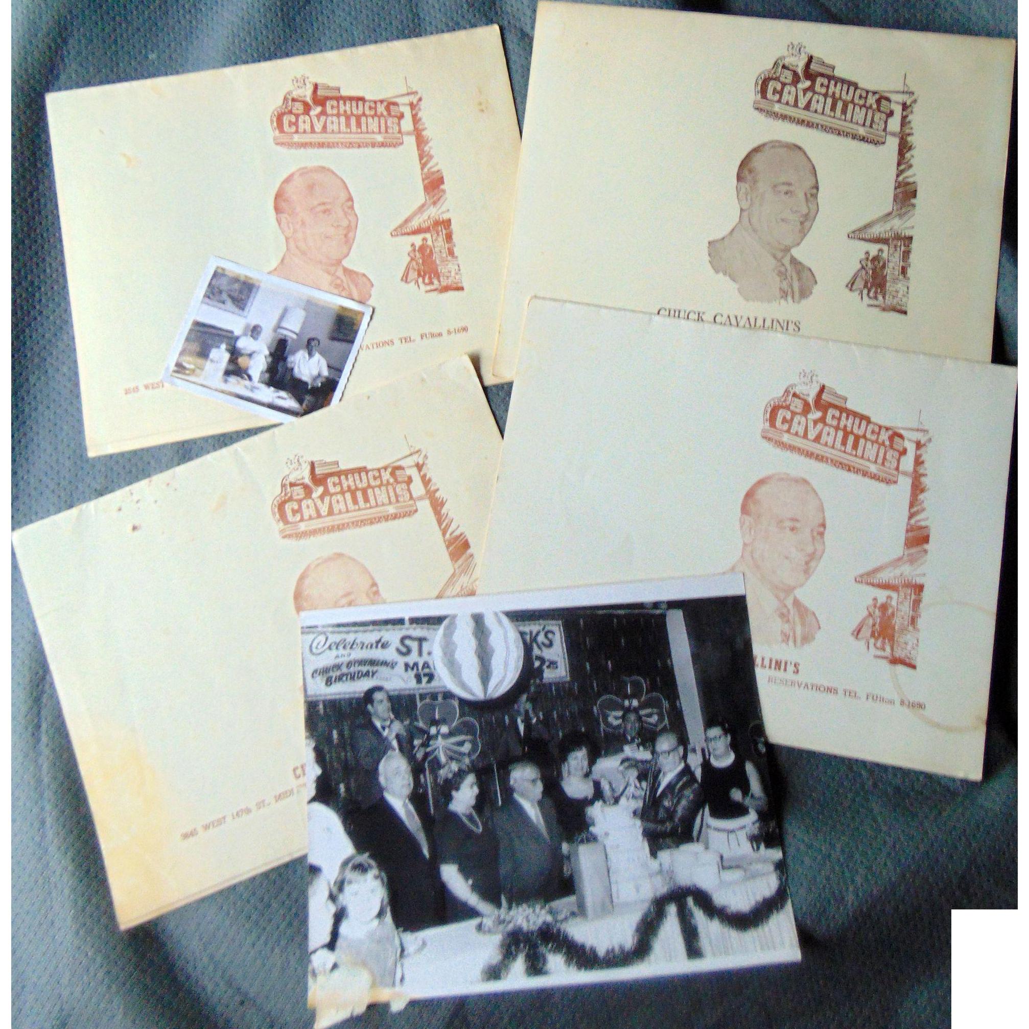 Chuck Cavallini Midlothian, Illinois restaurant  Photographs c.1960's