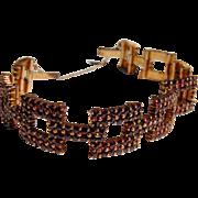 Sparkling Victorian Bohemian Garnet Bracelet