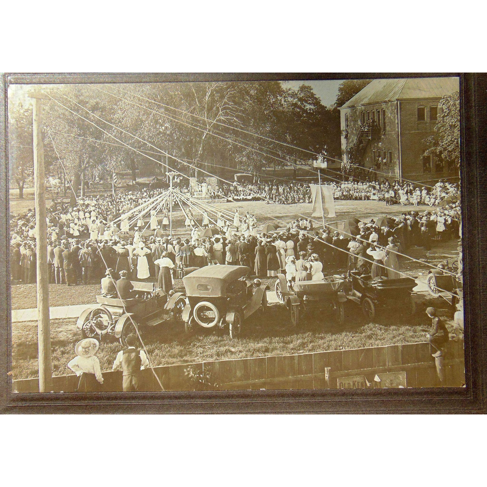 Wonderful May Day Small Town American Celebration Photograph c.1910