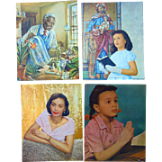 African-American Calendar Original Photo Artwork c.1950's