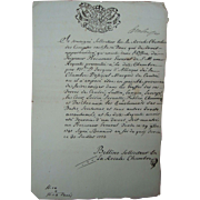 1773 Manuscript from the King of Savoy Sardinia