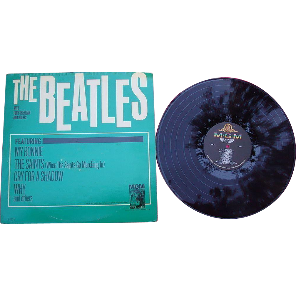 1964 The Beatles Way with Tony Sheridan Mono Record with LP Cover
