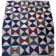 Log Cabin Quilt  Transylvania County North Carolina Late 19th Century