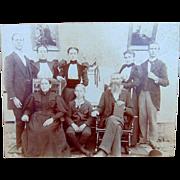 Albumen Photo of York Family from Virginia Nurse Diesel & Confederate Civil War Soldier
