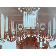 Society of Colonial Wars in 1896 at New Haven, Connecticut Albumen Photograph