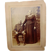 Ginormous Lady and her Love  Iowa Albumen photograph