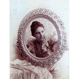 Being Framed in Los Angeles,California in the 1890's Boudoir Photograph