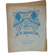 1888 Sheet Music Tippecanoe & Morton, Too Republican Party