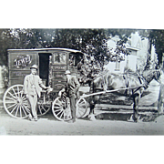 Spokane,Washington Horse Drawn Tea Salesman c. 1907 Photograph