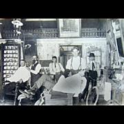 1902 San Francisco Ca. Barber Shop Photograph