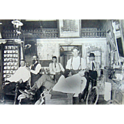 1902 San Francisco Ca. Barber Shop Photograph
