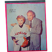 1959 Cleveland Indians Bob Hope & Lucille Ball School Notebook