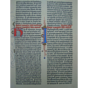 Gutenberg Bible iluminated  Page Presented to U.S. Allied Commander in 1955