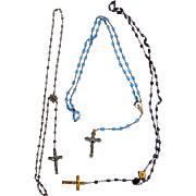 Three Antique Prayer Beads of Exceptional Beauty and History