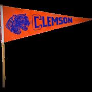 1960's Clemson Tigers Full Length Pennant