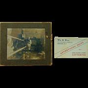 Ebenezer Colonies West Seneca,New York  Sign Maker W.H.Wall Photo & Business Card