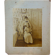 Convalescence and a closed Door Albumen Photograph 1870's