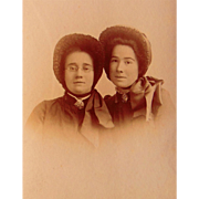 Salvation Army Cabinet Photo of Two Angels from 1890