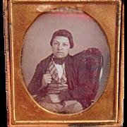 Gainesville, Florida daguerreotype of Gold Finger Midget