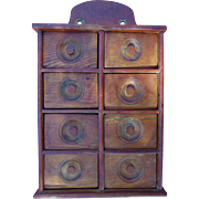 19th century Apothecary & Spice cabinet