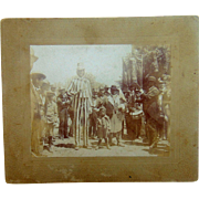 Modern Woodmen of The World with Uncle Sam & Jolly Rogers 1890 Cabinet Photo Leaf River,Illinois