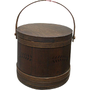 The BEST c.1870 Sugar Bucket Firkin with Lid