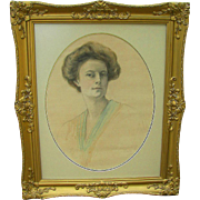 Portrait of Aimee Brite by Zofia Atteslander Paris 1908