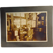 Emeryville, California Union Pacific Railroad & Butchers Cabinet Photo 1912