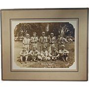 Santa Fe Railroad All-Star Baseball Team Photograph July 4 1911