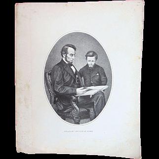 Civil War Abraham Lincoln with son Tad