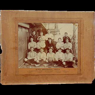 HMS Speedwell Torpedo Gunboat Football Team Photo 1907