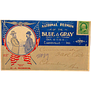 Civil War Blue- Gray Reunion Cover Evansville,Indiana 1899