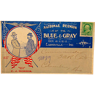 Civil War Blue- Gray Reunion Cover Evansville,Indiana 1899