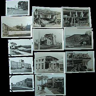 Long Beach,California Earthquake 1933 Original Raw Snapshot Photos