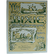Way Down in Dixie Where the Sugar Cane Grows...Frogs,Gators and Teddy Roosevelt Sheet Music
