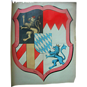 Coat of Arms for the City of Munich,Germany Travel Poster 1898