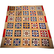 Antique 8 Star Quilt from North Carolina