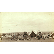 Cowboys on Prairie with Chuck-Wagon   1887 Photograph