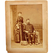 Wedding portrait of William Graham and Nora Pearson of Bloomington, Indiana dated 1883